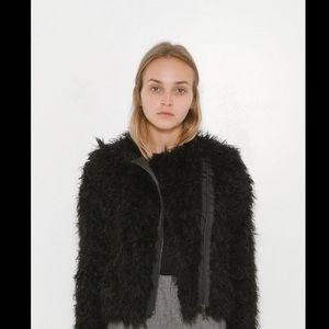 Zadig $ Voltaire black Faux Fur jacket